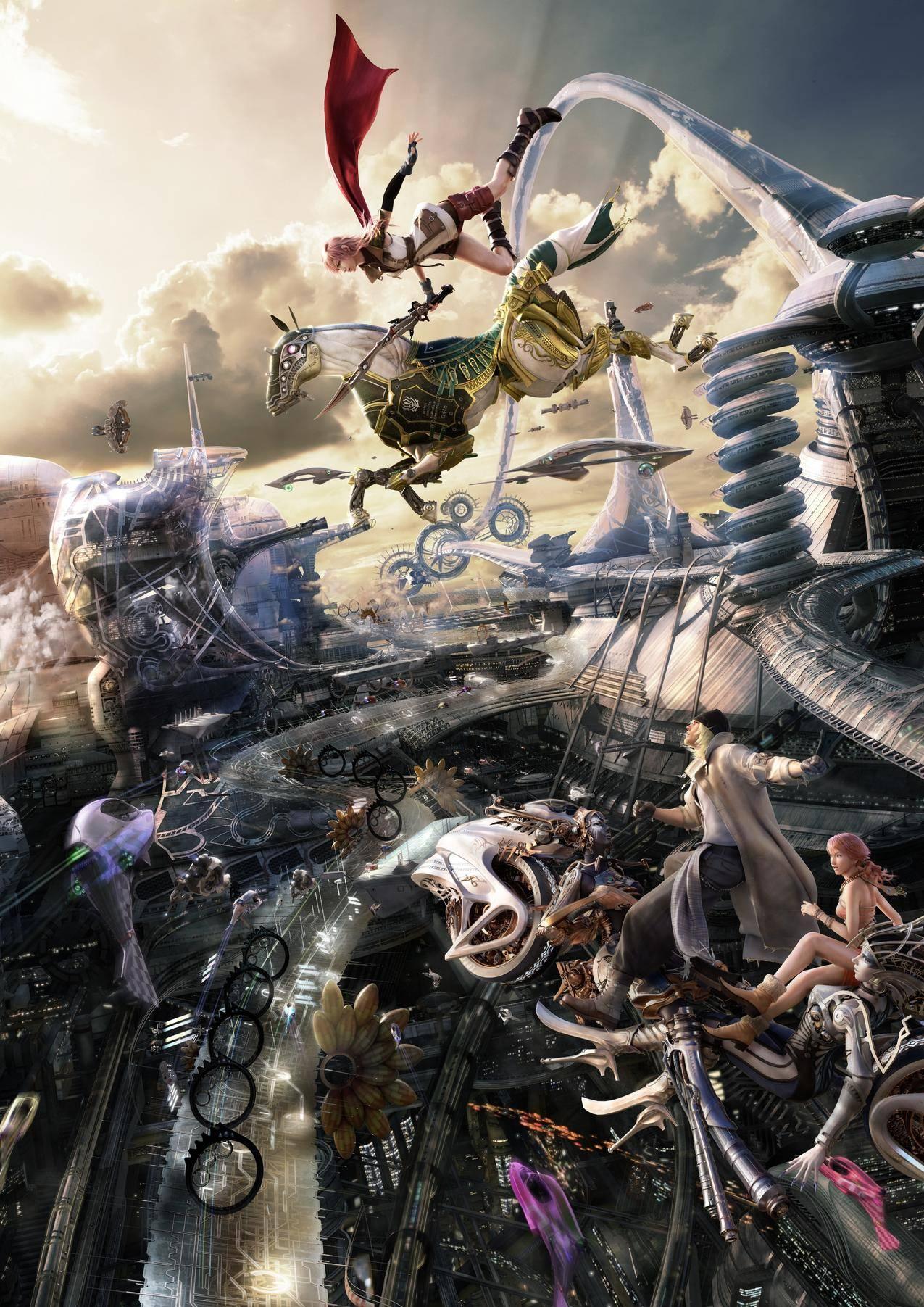 克雷夫拉伦,斯诺维利斯,奥尔巴迪亚瓦纳,FialValasyXIII,视频游戏,Eidolon,马,城市风光,宇宙飞船
