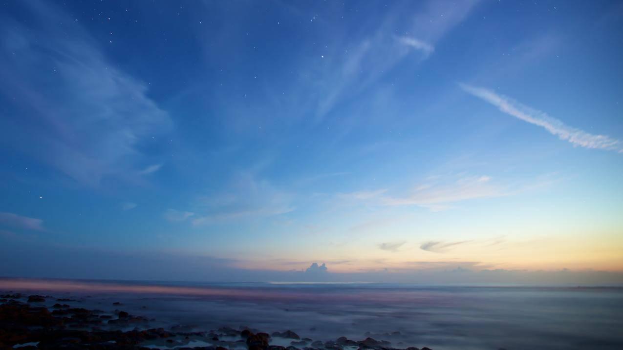 天空,地平线,星星,风景,自然