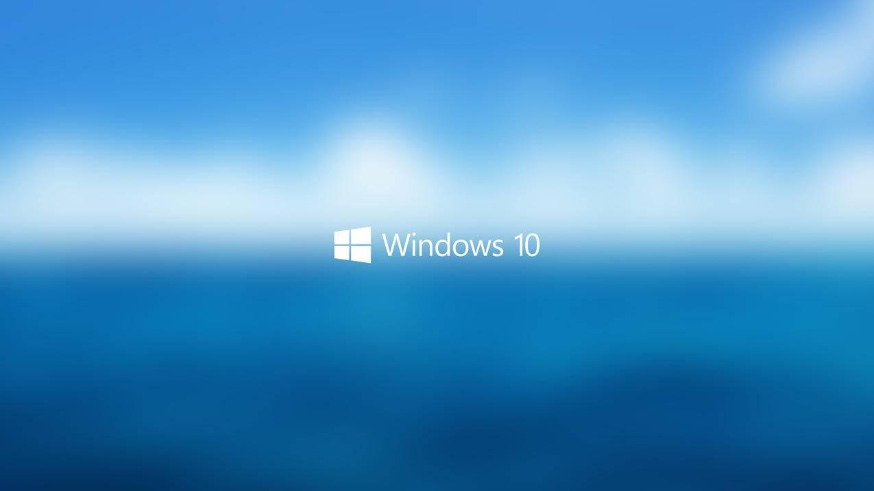 蓝色天空,Windows10,4K壁纸