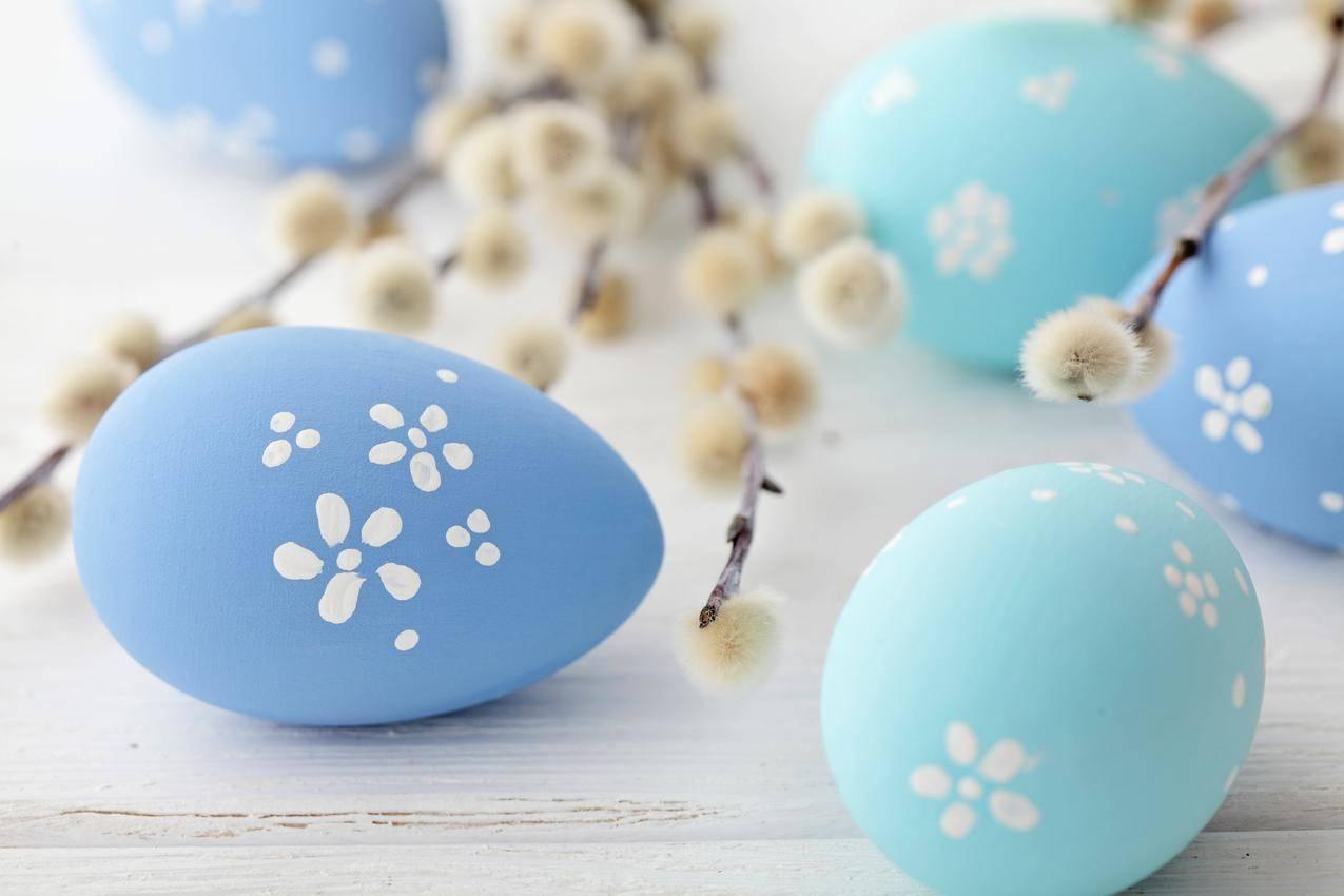 复活节蓝色的彩蛋5K壁纸