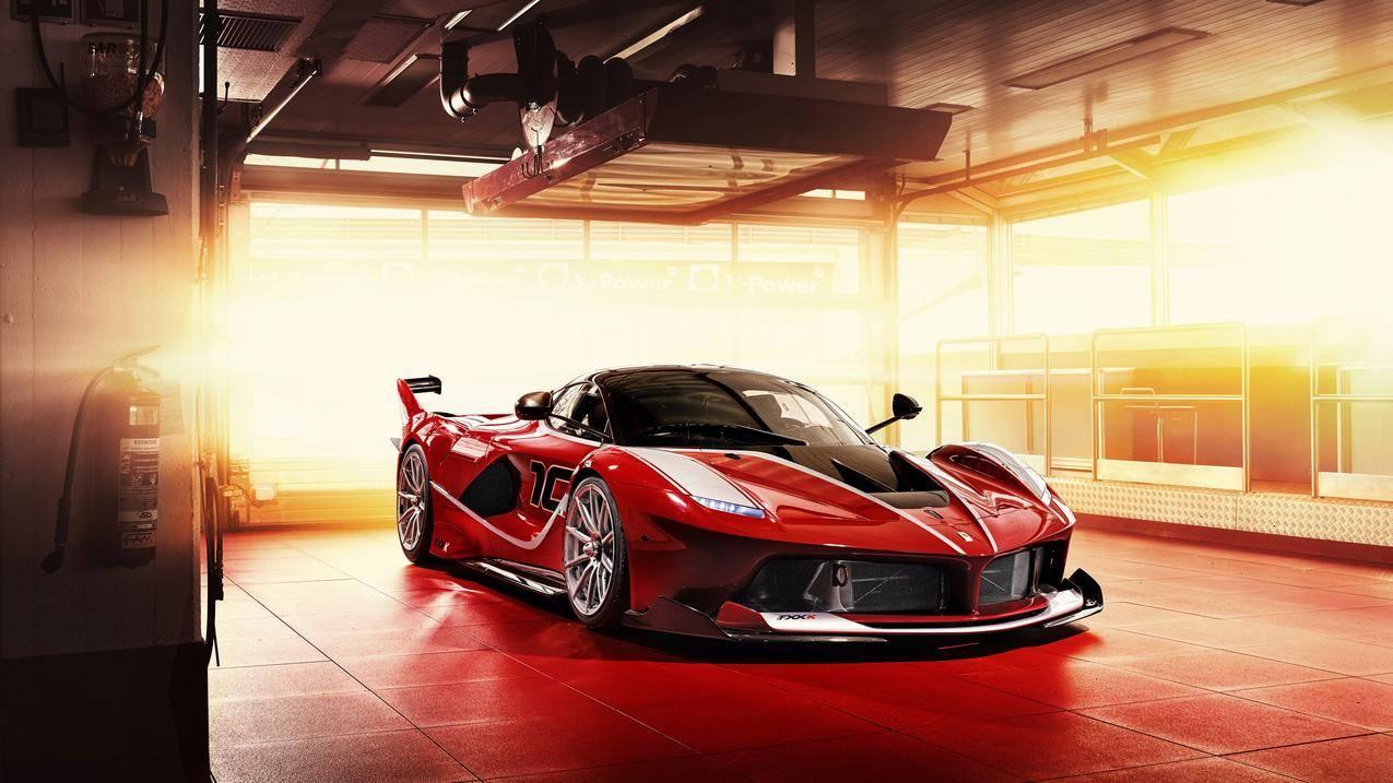 法拉利fxx k 红色跑车4k壁纸