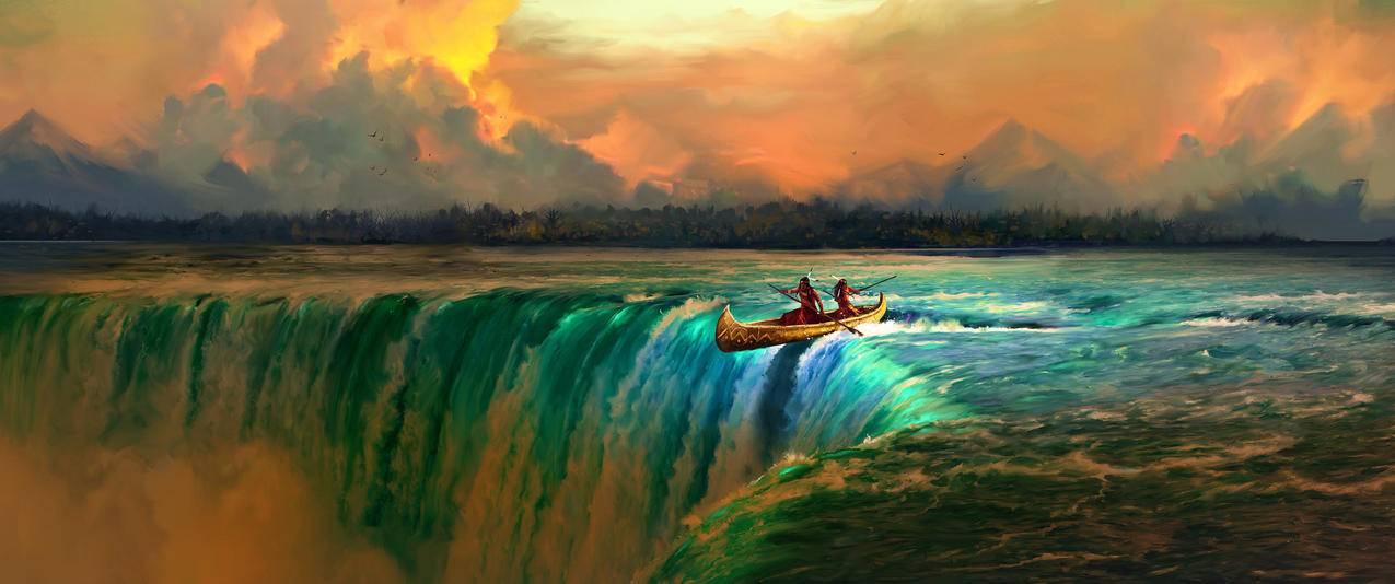 独木舟,3440x1440壁纸