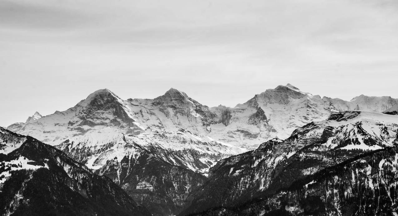 冰川,雪,黑白,山水cc0可商用高清大图