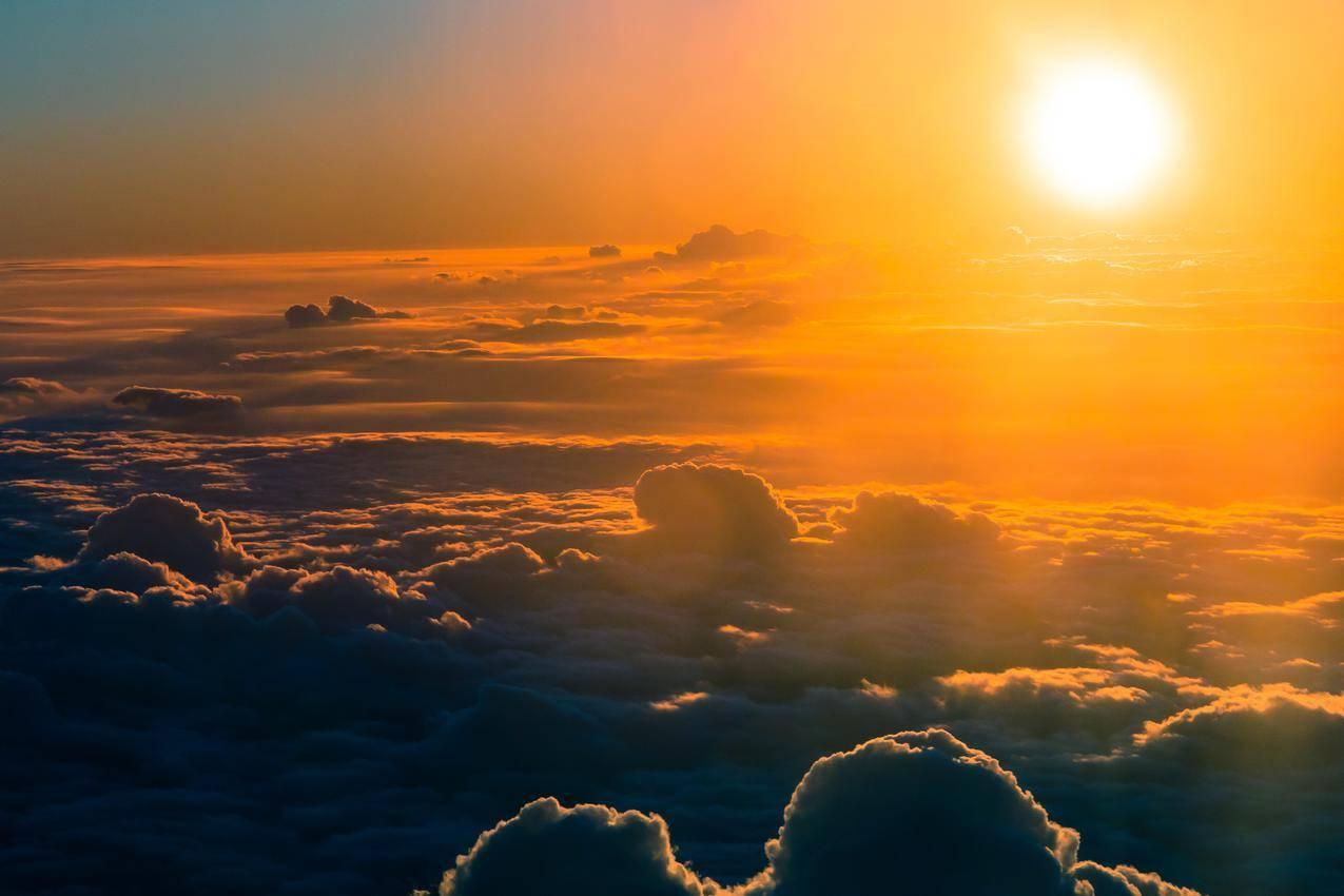 阳光,天空,日落,云彩cc0可商用高清大图