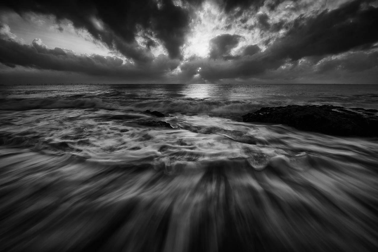 海,黑白,自然,天空的免费照片