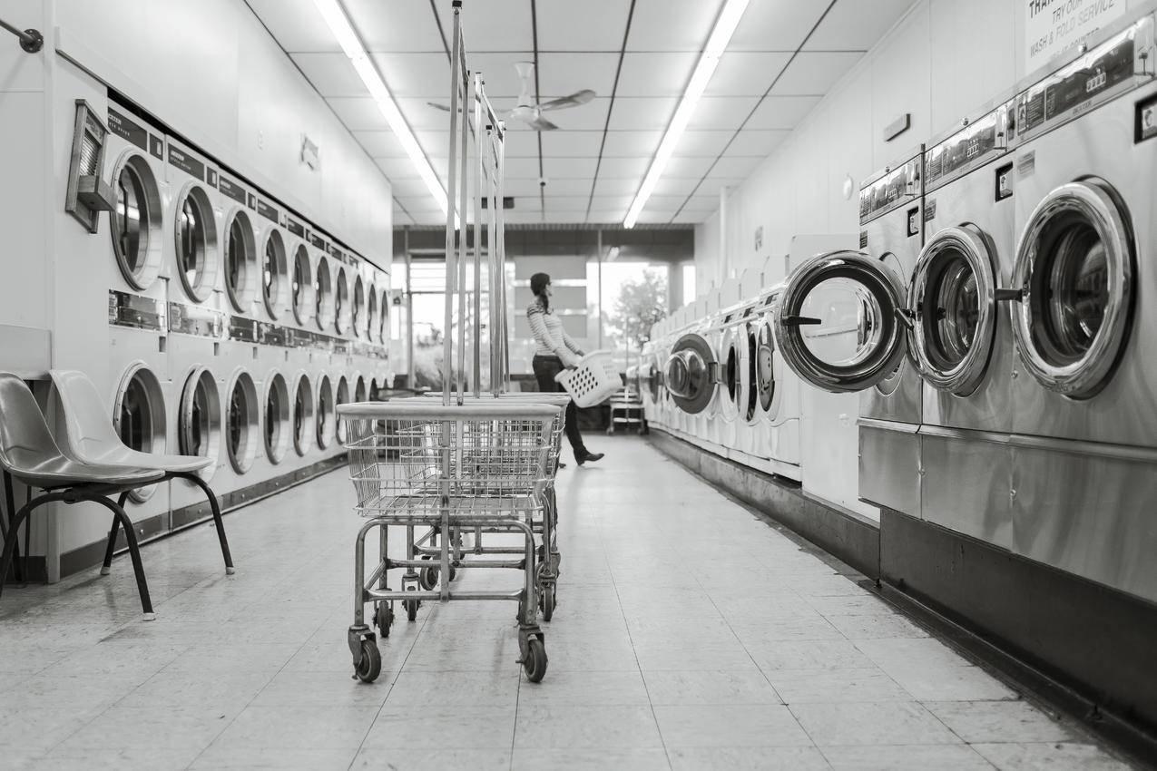 免费的黑白照片,清洁,家务,洗衣店