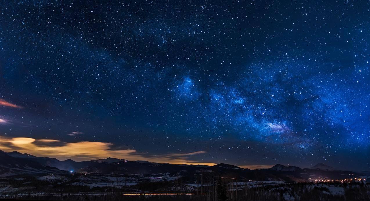 风景,山脉,天空,夜晚cc0可商用高清大图