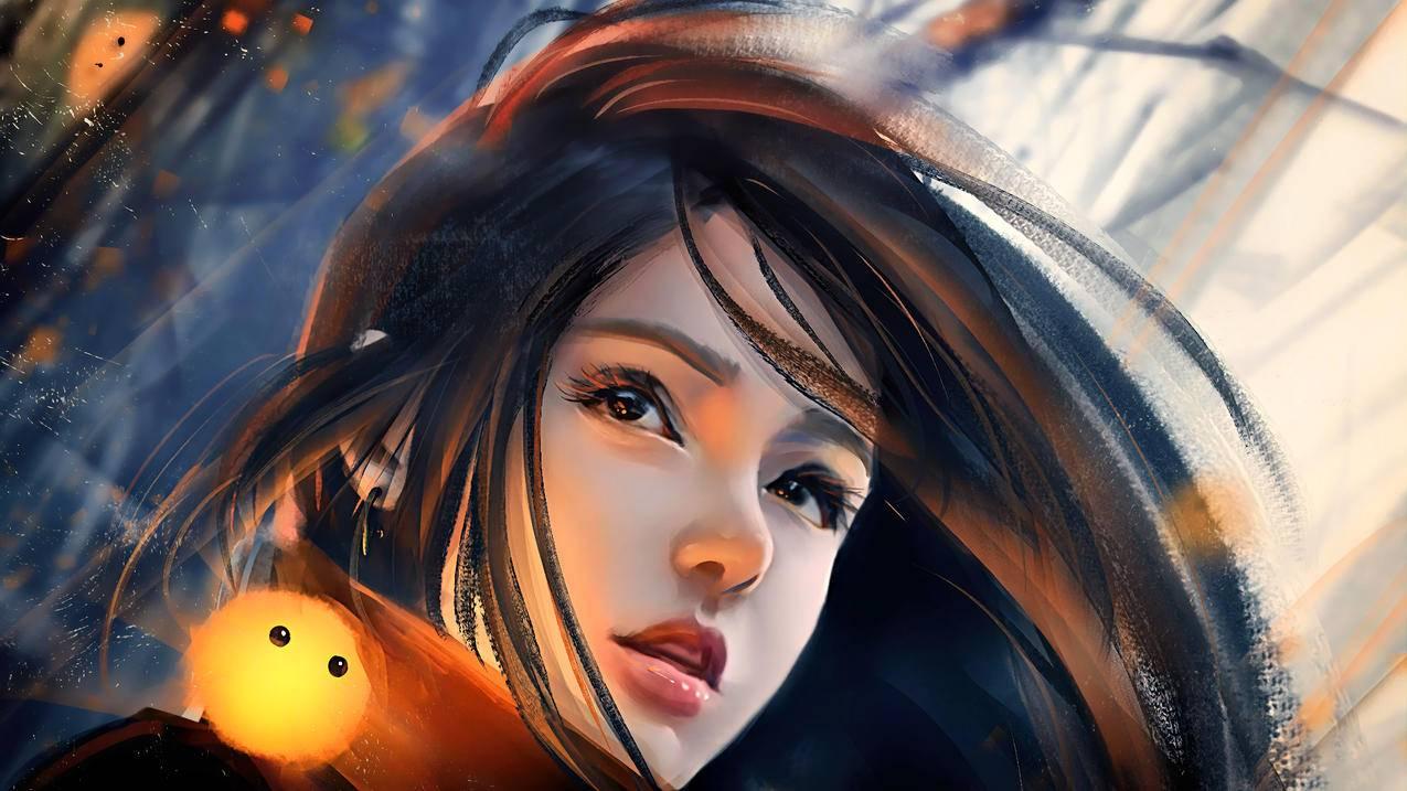 幻想女孩 小精灵 绘画 4k壁纸