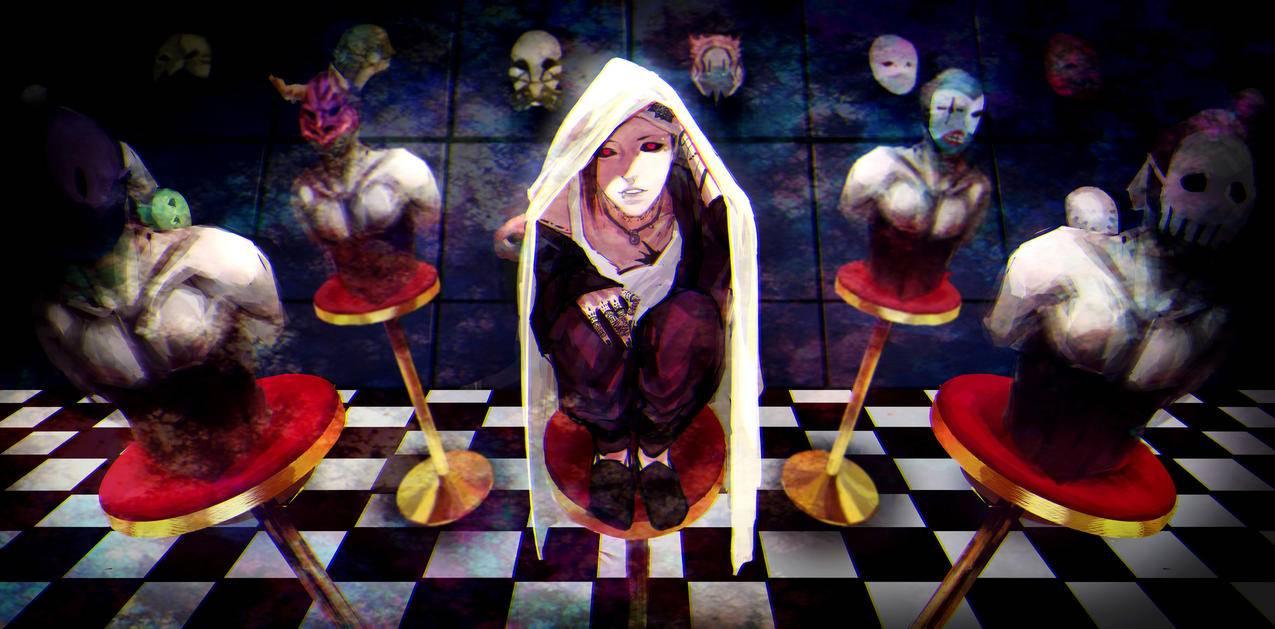 男孩,面具,乌塔,东京食尸鬼4k壁纸图片