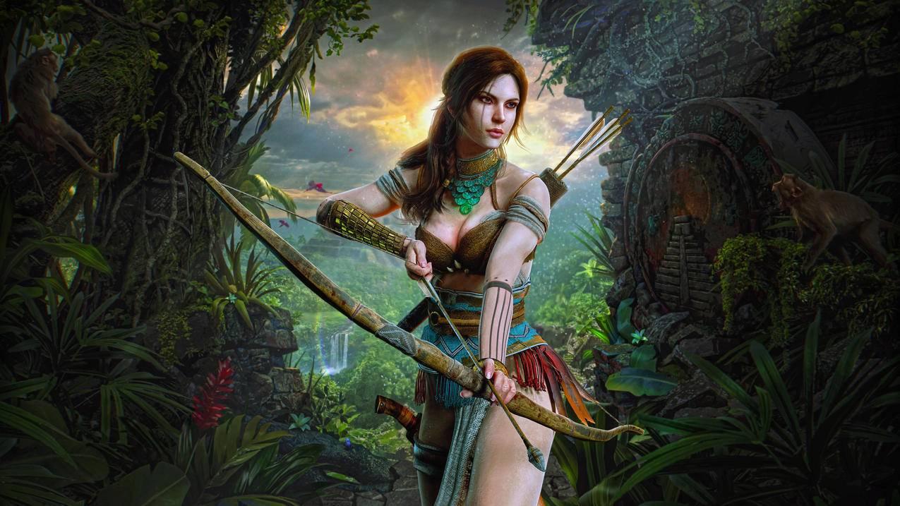 劳拉克罗夫特猎人女孩4k游戏壁纸3840x2160