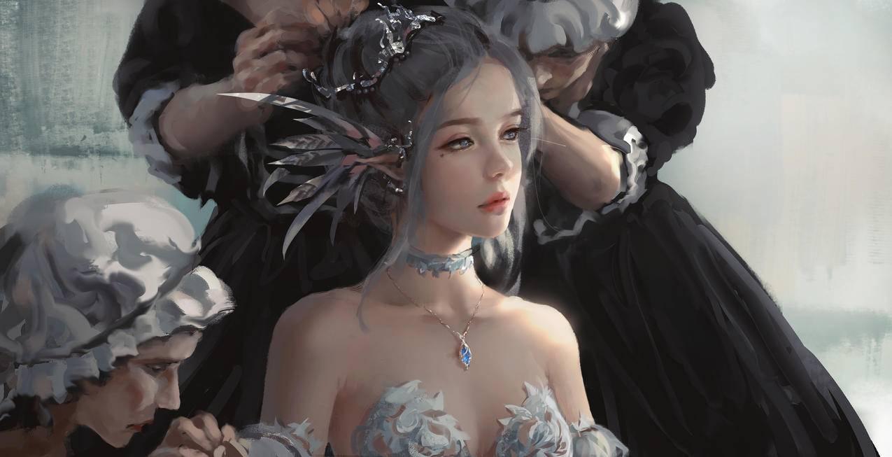 鬼刀冰公主海琴烟梳妆4k壁纸