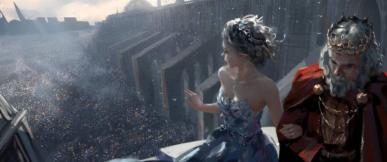 冰公主,国王,梦想,鬼刀带鱼屏壁纸3440x1440