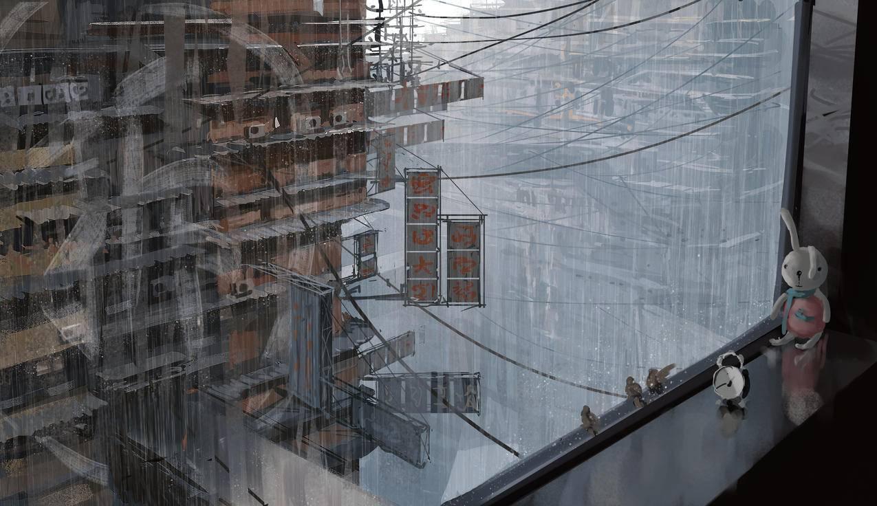 窗户,wlop鬼刀4k原画壁纸