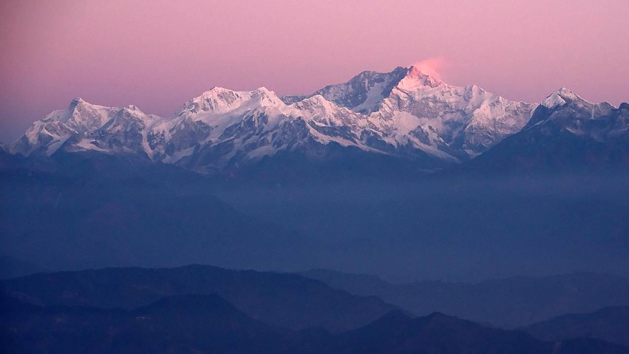 大吉岭,早晨,第一缕阳光,4K风景壁纸