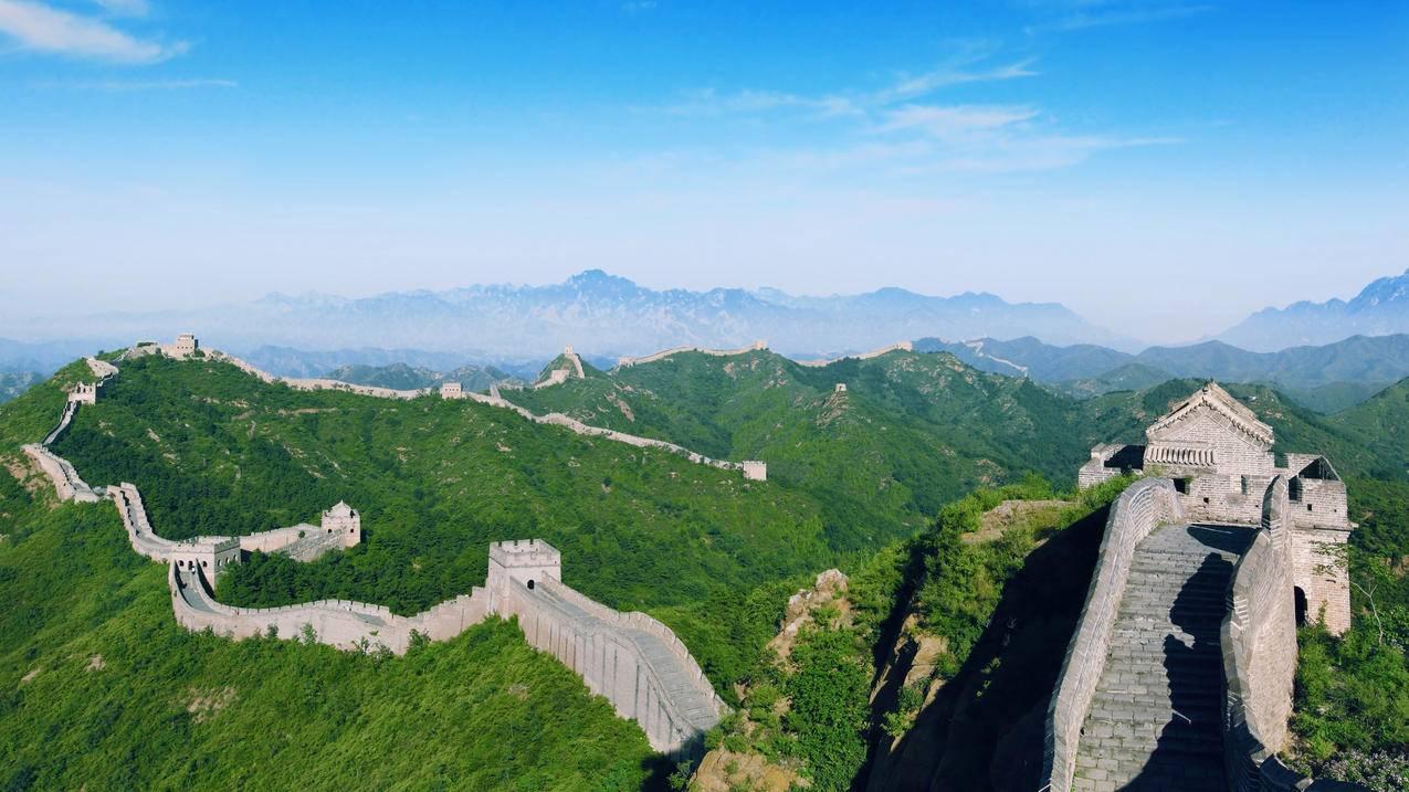 中国北京长城风光4K高清壁纸
