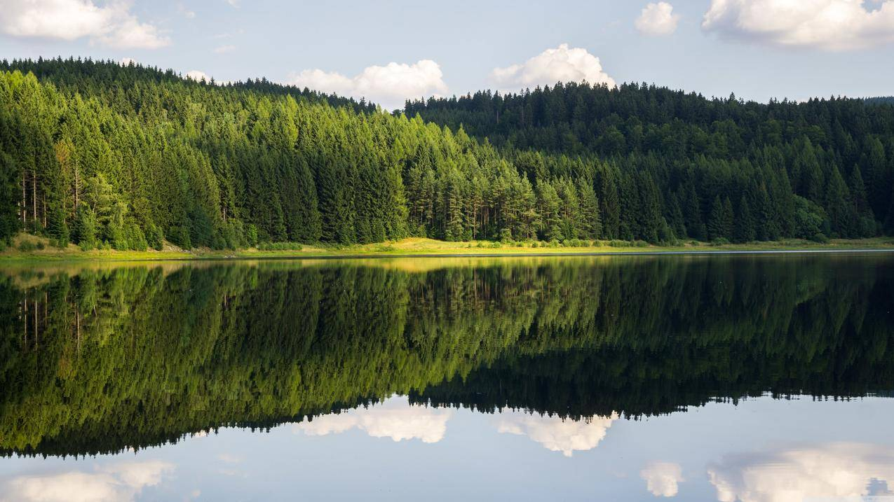 湖,自然,天空,蓝天,大地,风景壁纸