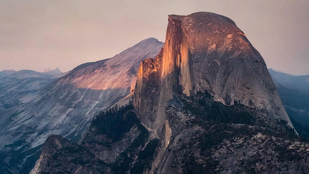 美国加州约塞米蒂国家公园半穹顶风景4k壁纸
