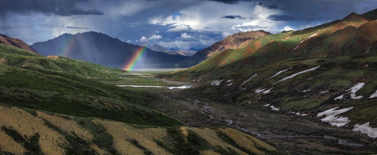 彩虹,自然,天空,云,阳光,4K风景图片