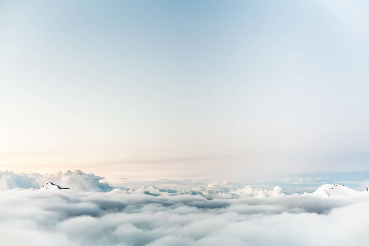 白云,白色,5k壁纸