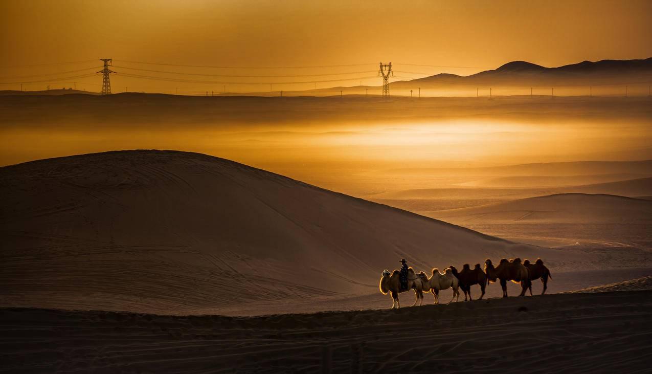 巴丹吉林沙漠4K风景图片