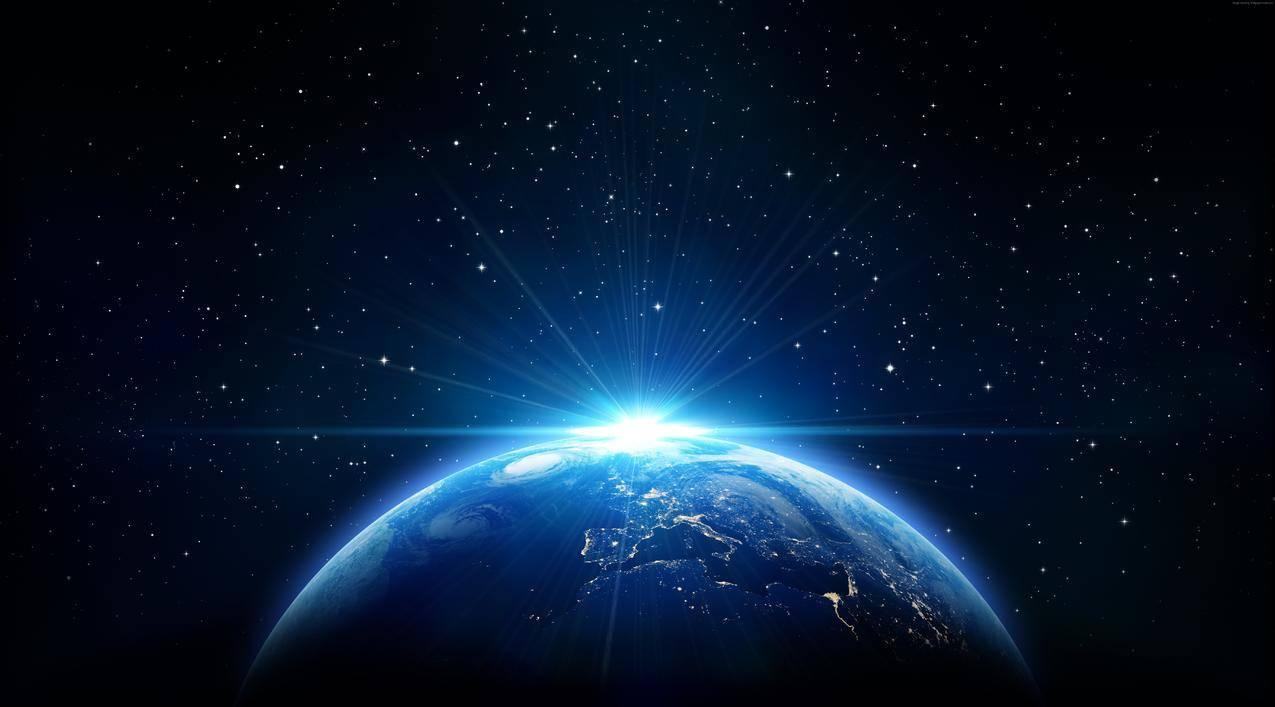 空间,地球,太阳,天空,太空,星星,星空,7K图片