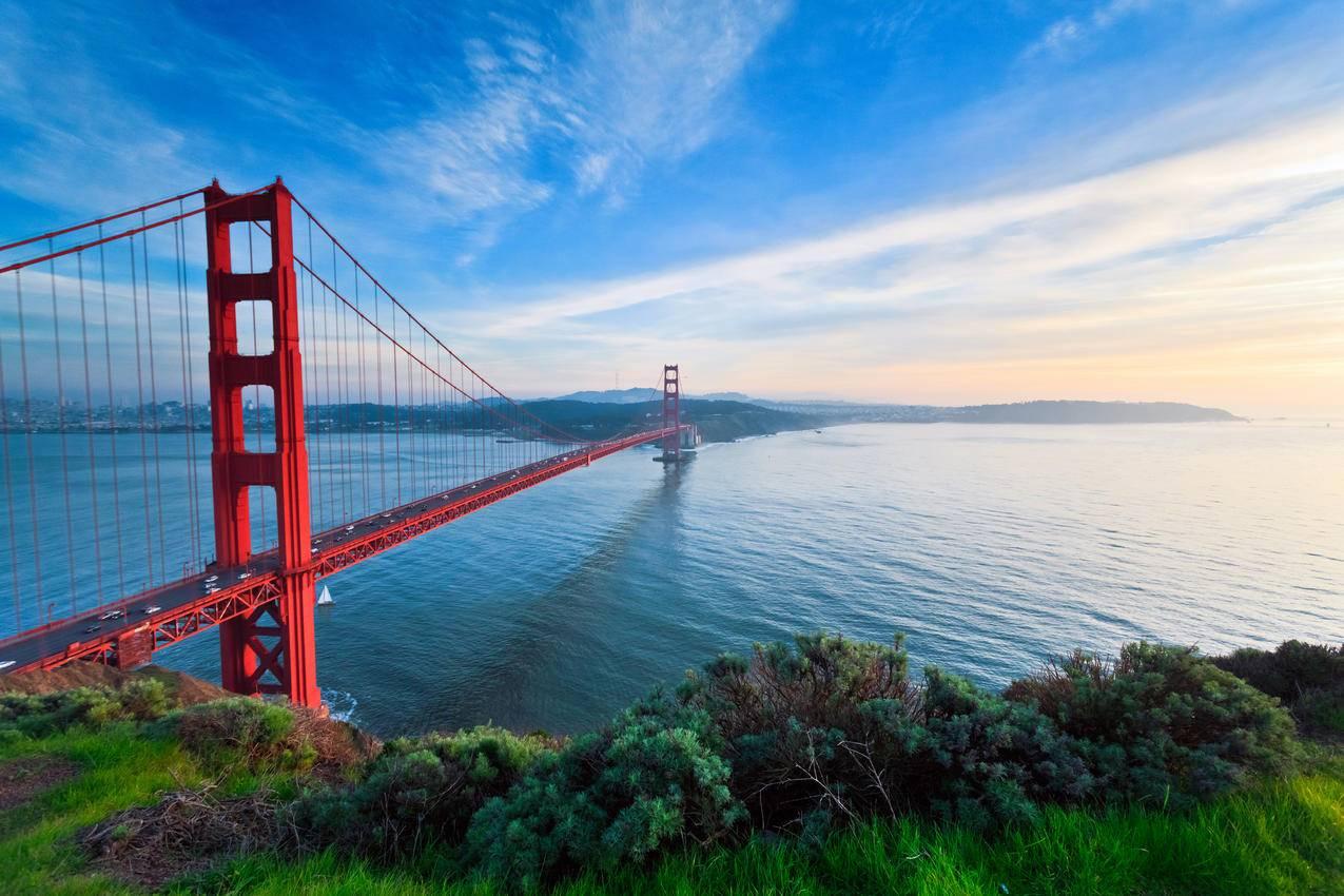 美国加州金门大桥4K风景壁纸