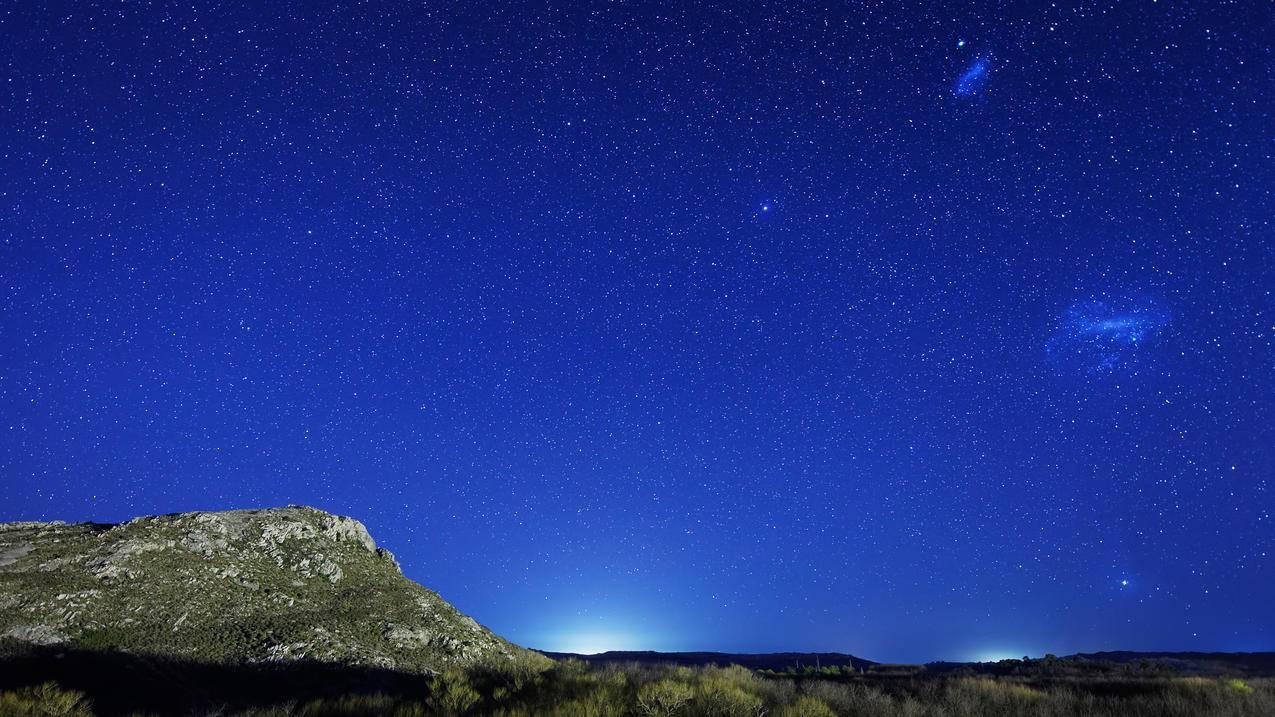 星系,麦哲伦云,星空4K壁纸