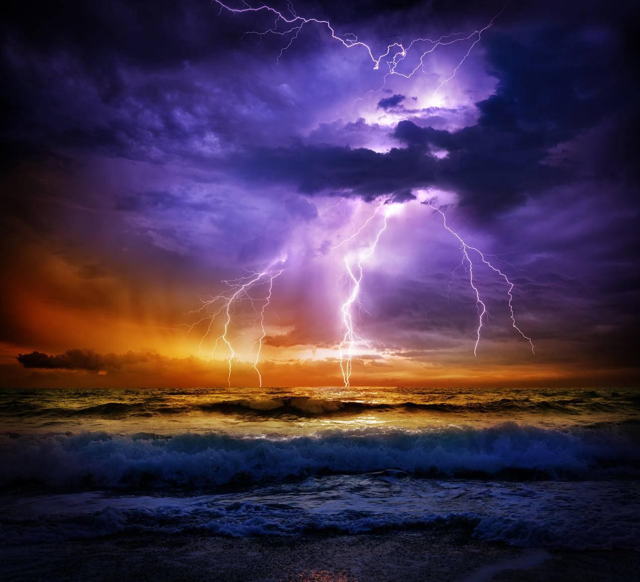 乌云,闪电,风景,4K壁纸