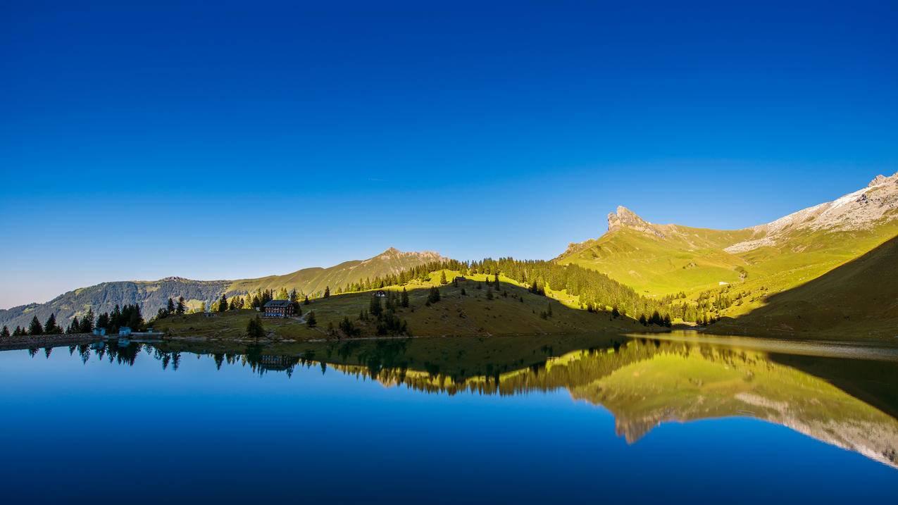 瑞士 湖 风景4k壁纸 千叶网