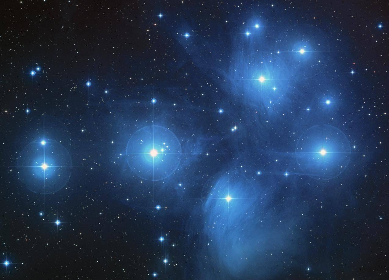 昴星团,星团,星空,星系4K壁纸