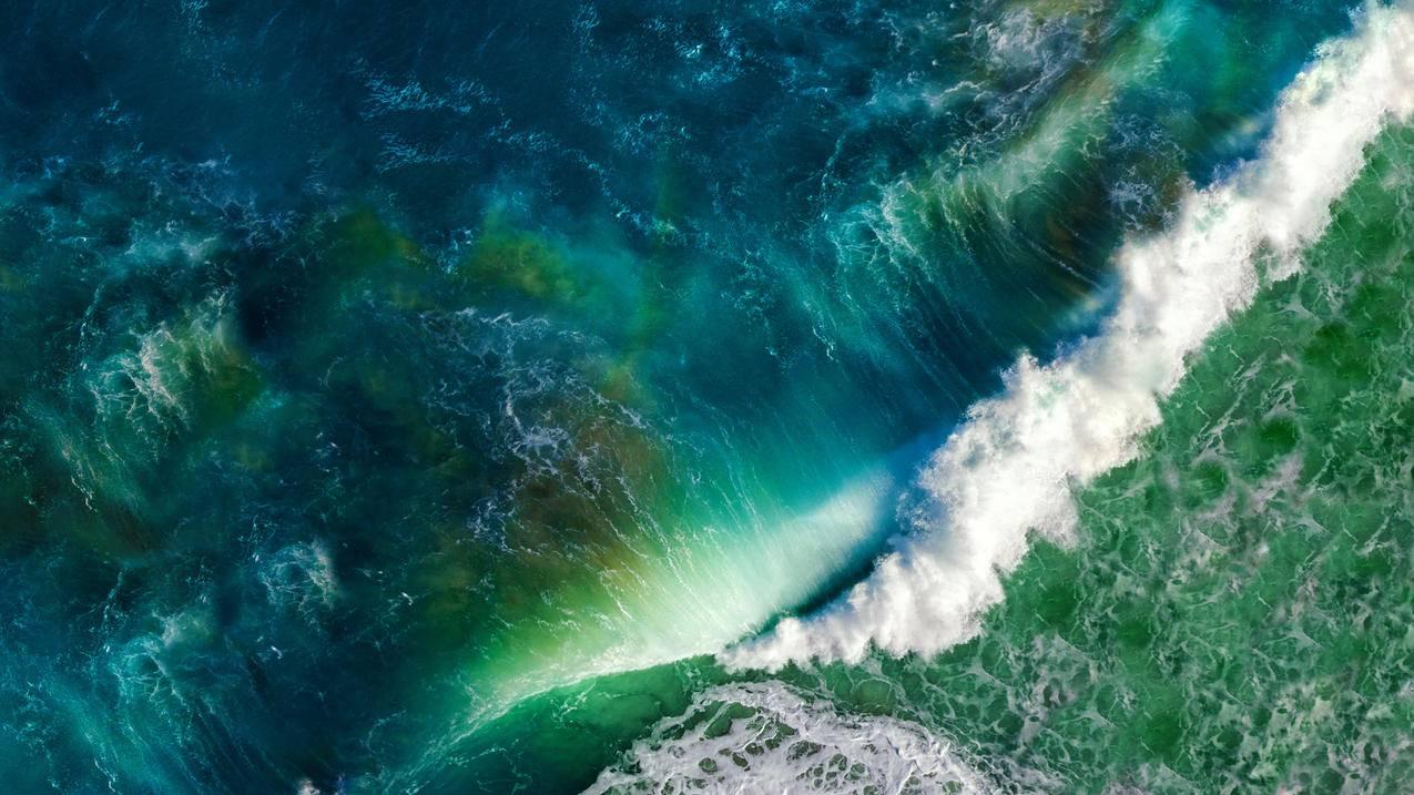 IOS,苹果MAC,大海,海浪风景4K壁纸