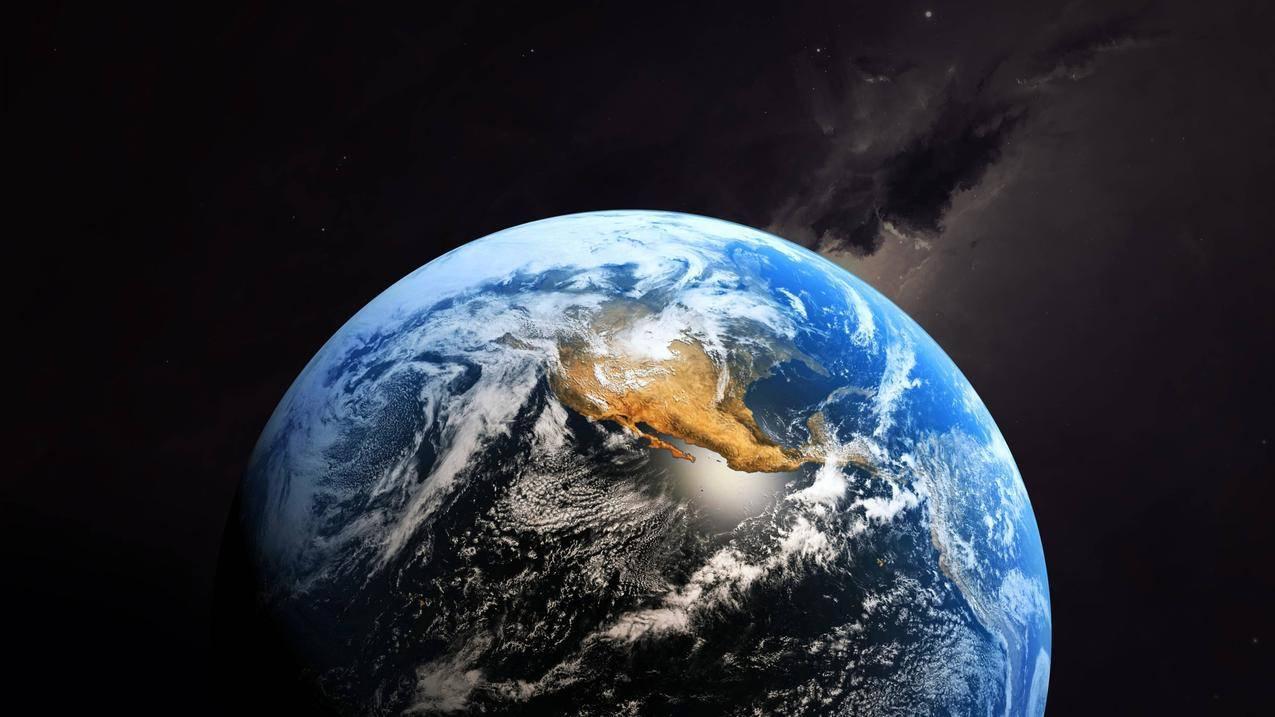 云,地球,空间,星空,4K壁纸,3840x2160