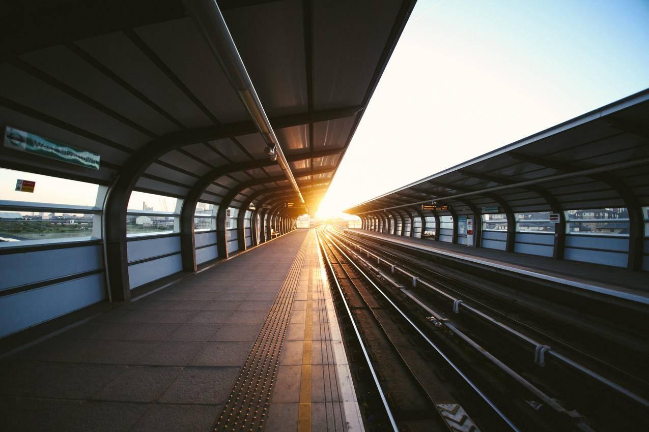 地铁站,风景,清晨,5k壁纸