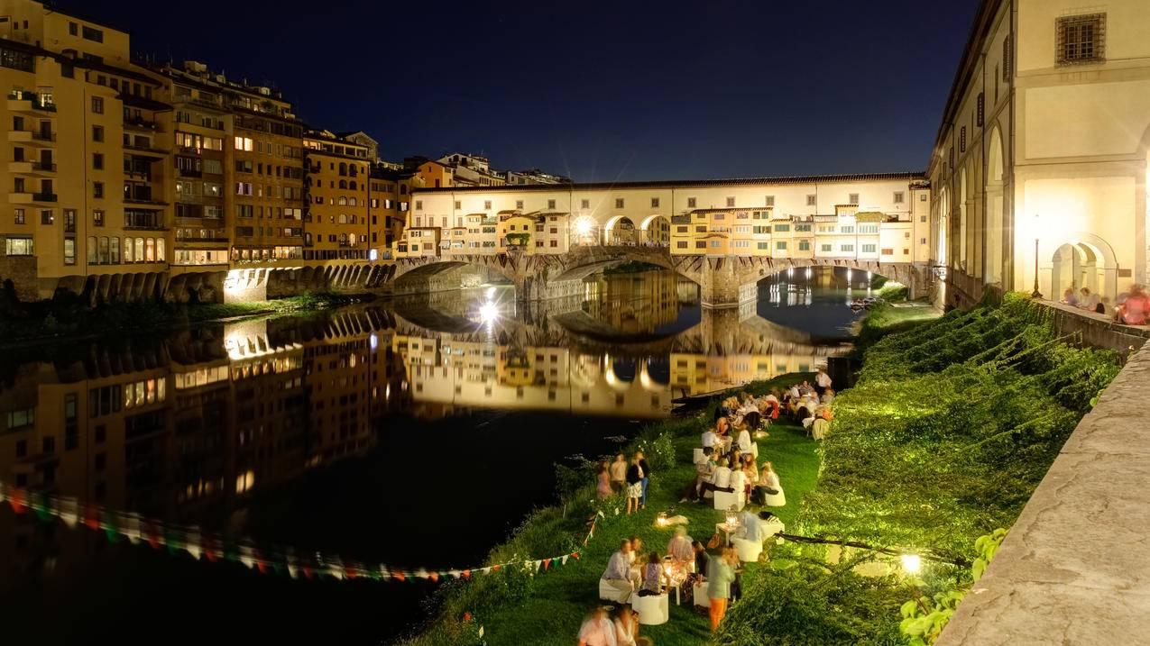 意大利,阿诺河老桥4K风景壁纸