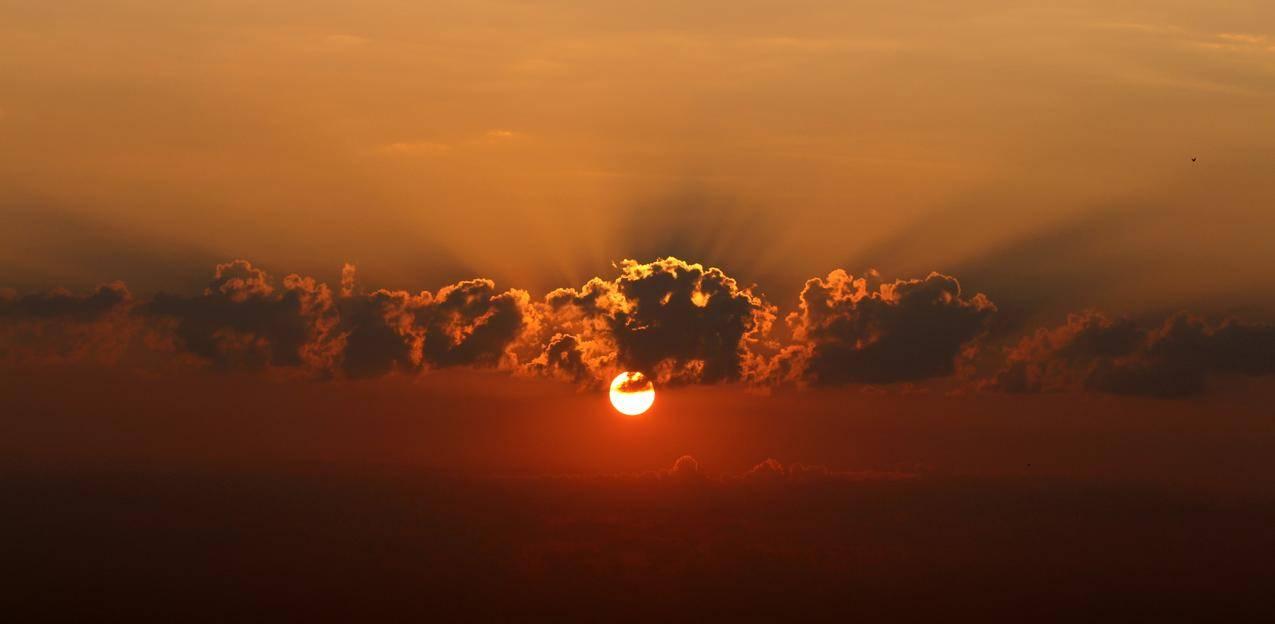 日出,云,暮光之城,5K风景图片