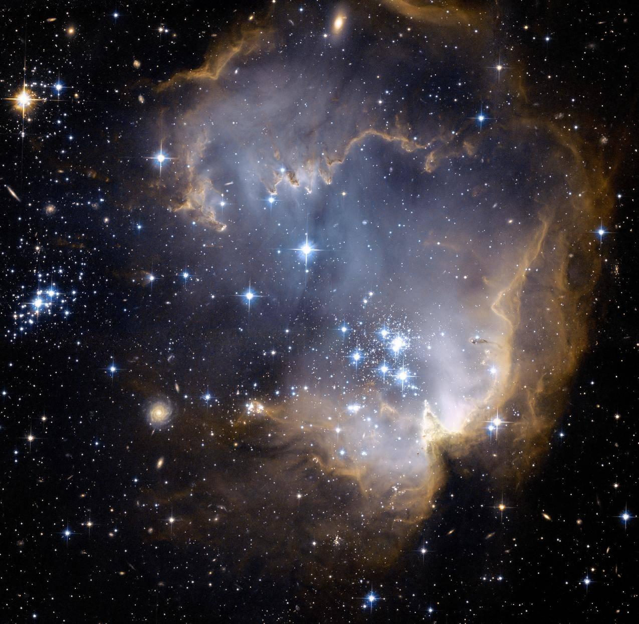 星团,星系,云,神奇的,神秘的星空壁纸
