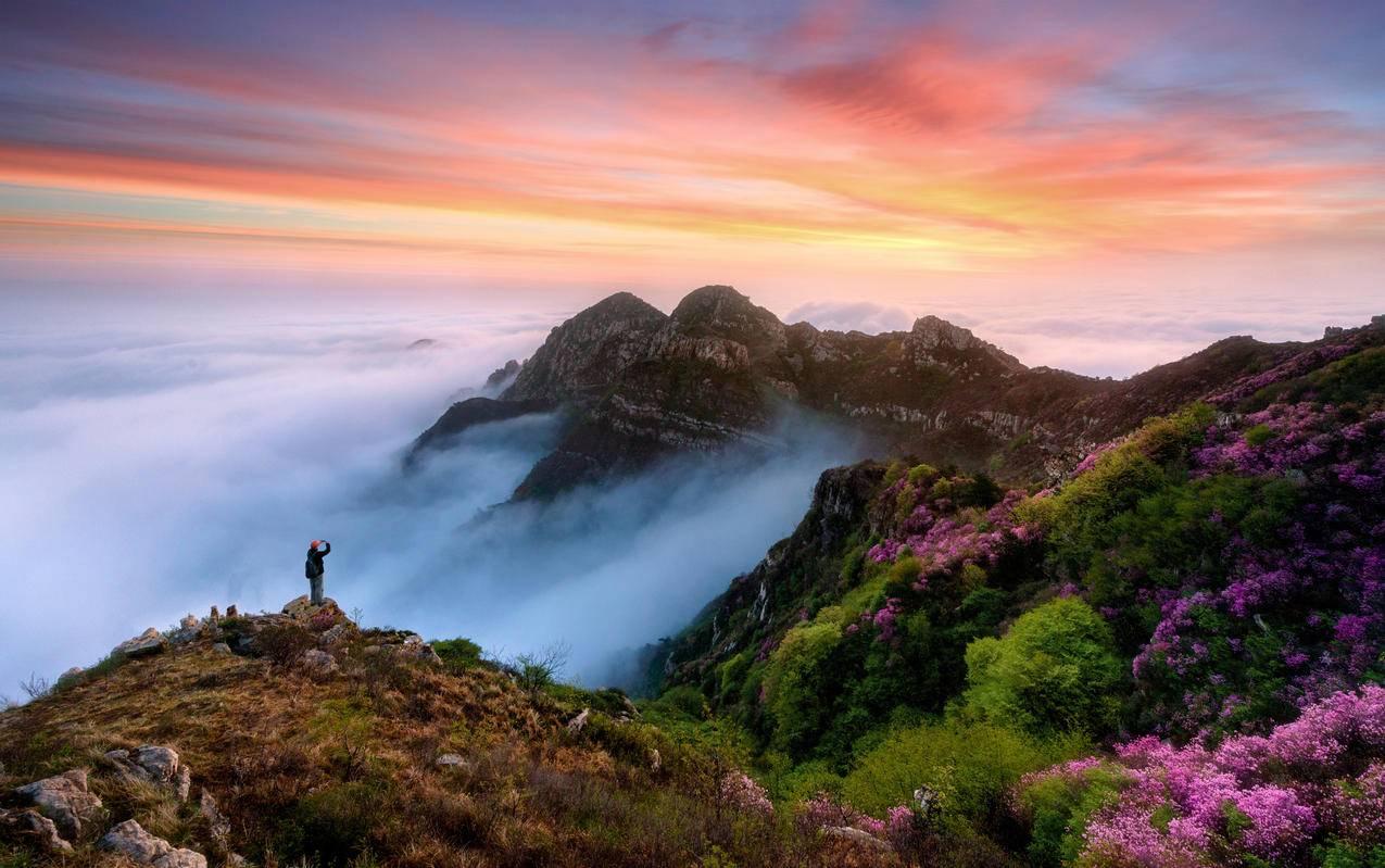 山脉美景4k摄影风景图片