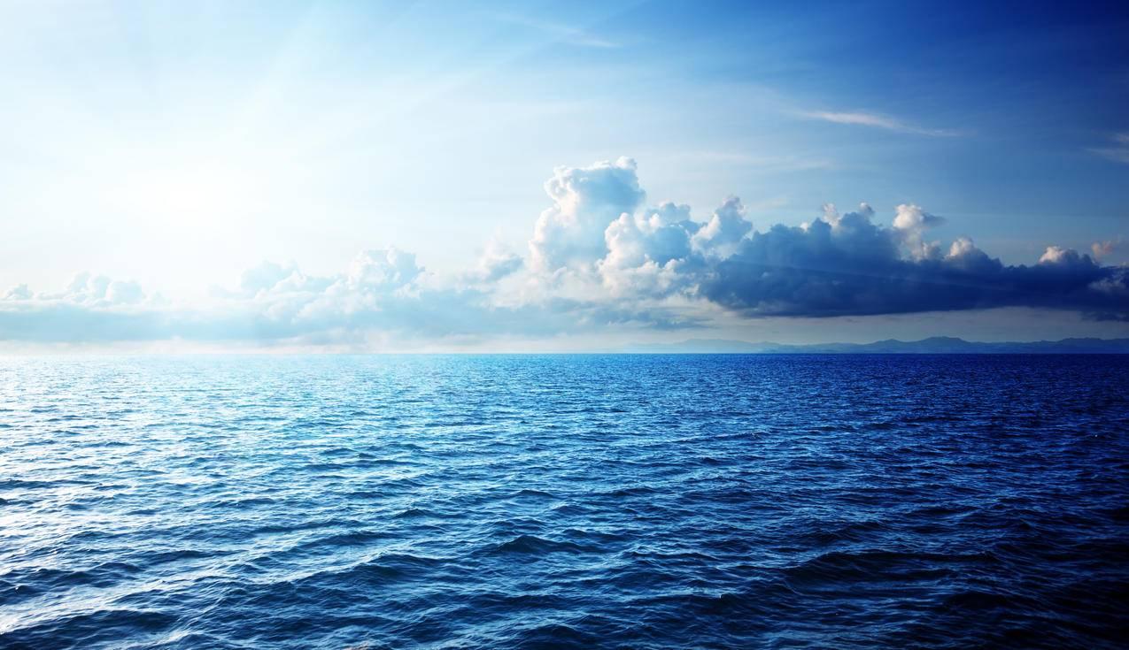 加勒比海,天空,云,4K风景壁纸