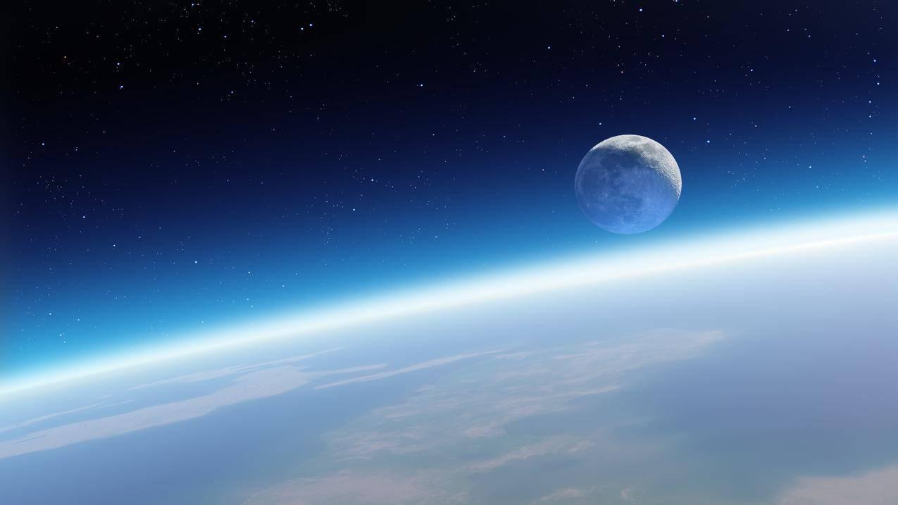 天空,宇宙,星空,苹果MacSierra系统5K壁纸