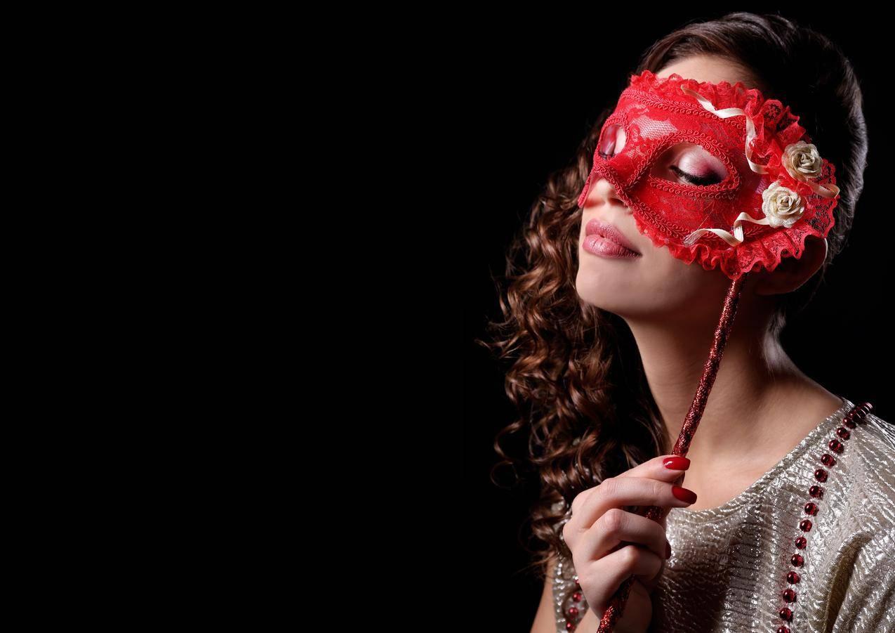 女孩,化妆,口红,面具,7K美女壁纸