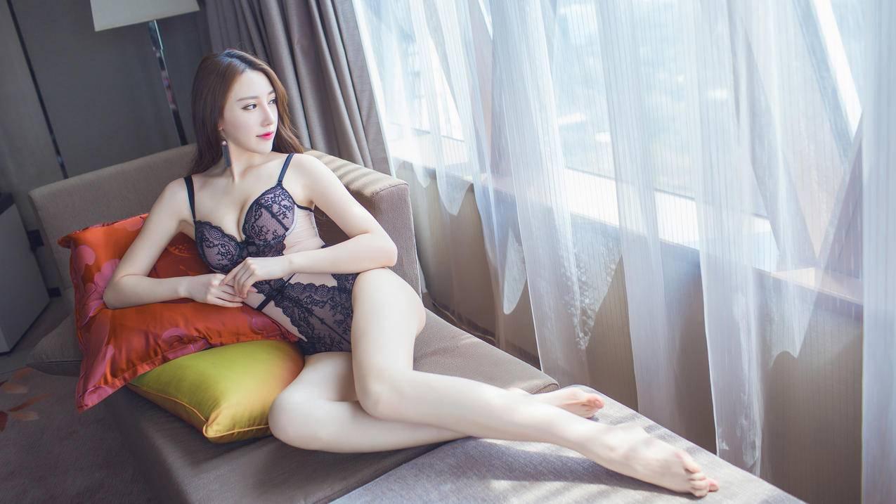 长腿,性感内衣,模特,刘奕宁Lynn,4K壁纸