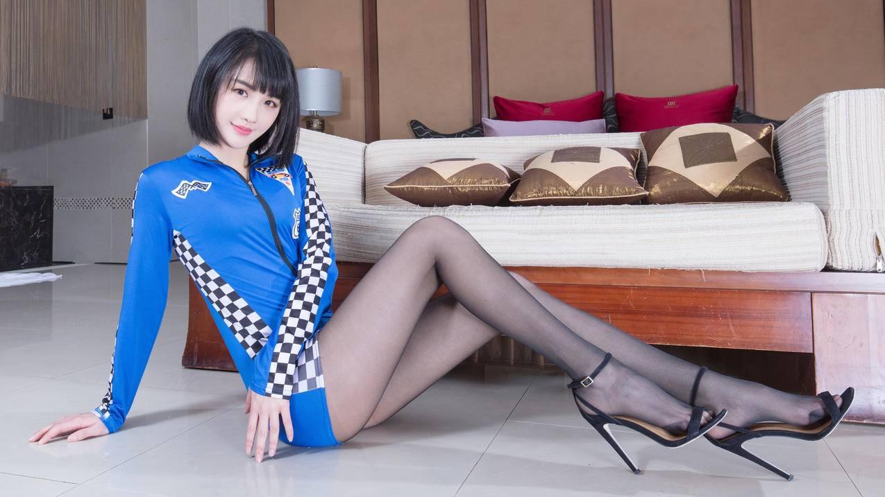 腿模Wendy黑色丝袜美腿4k美女壁纸3840x2160