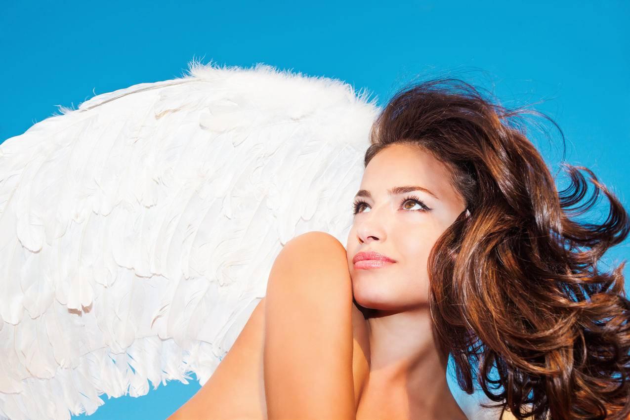 女孩,天使翼毛,性感,半裸,艺术4K壁纸