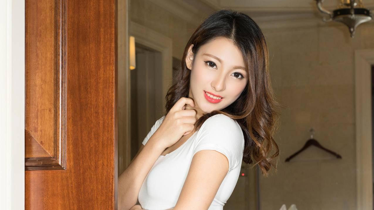 妮子,美女侧面写真4K壁纸