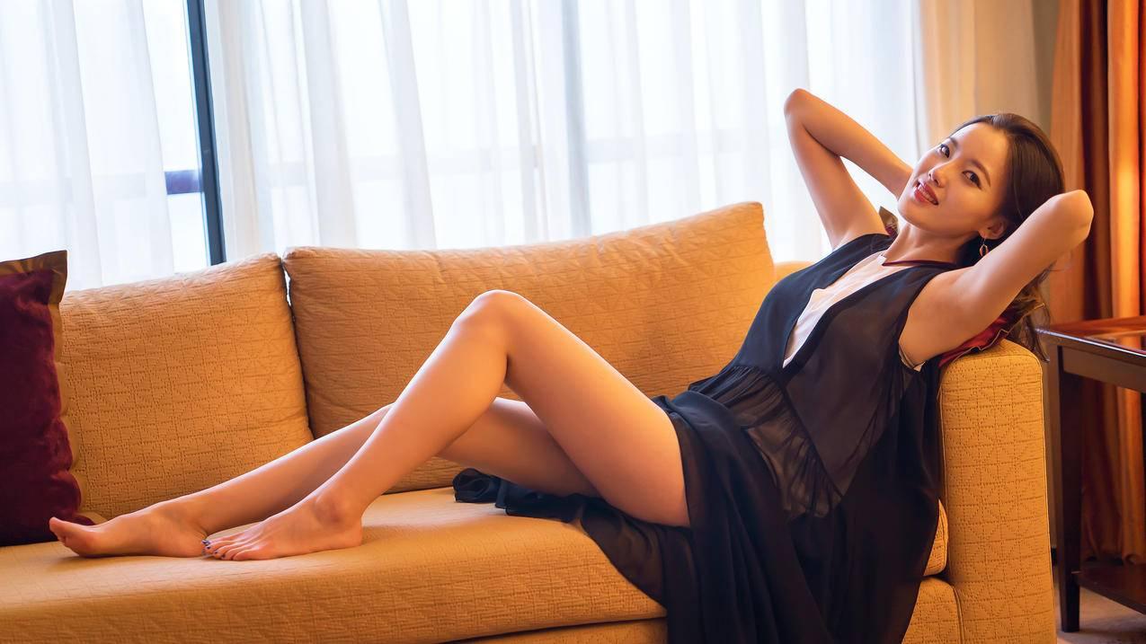 黑色裙子,性感美腿美女,rayshens,美女模特4K壁纸