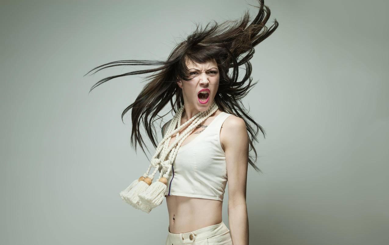 个性女孩头发,4K美女壁纸