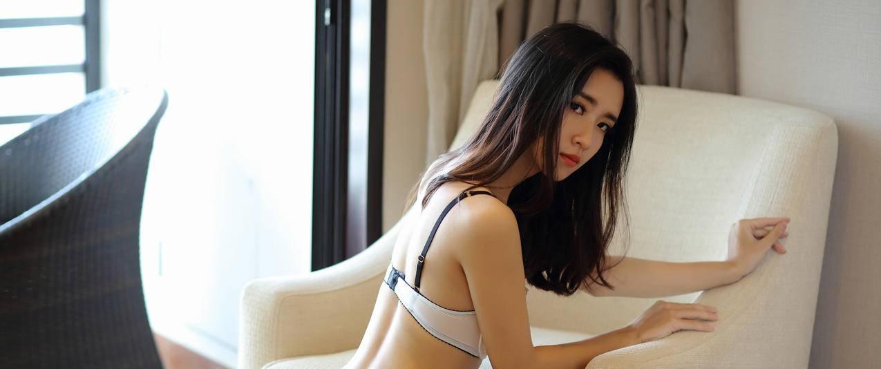 小夕Kitty性感内衣长发美女3440x1440壁纸