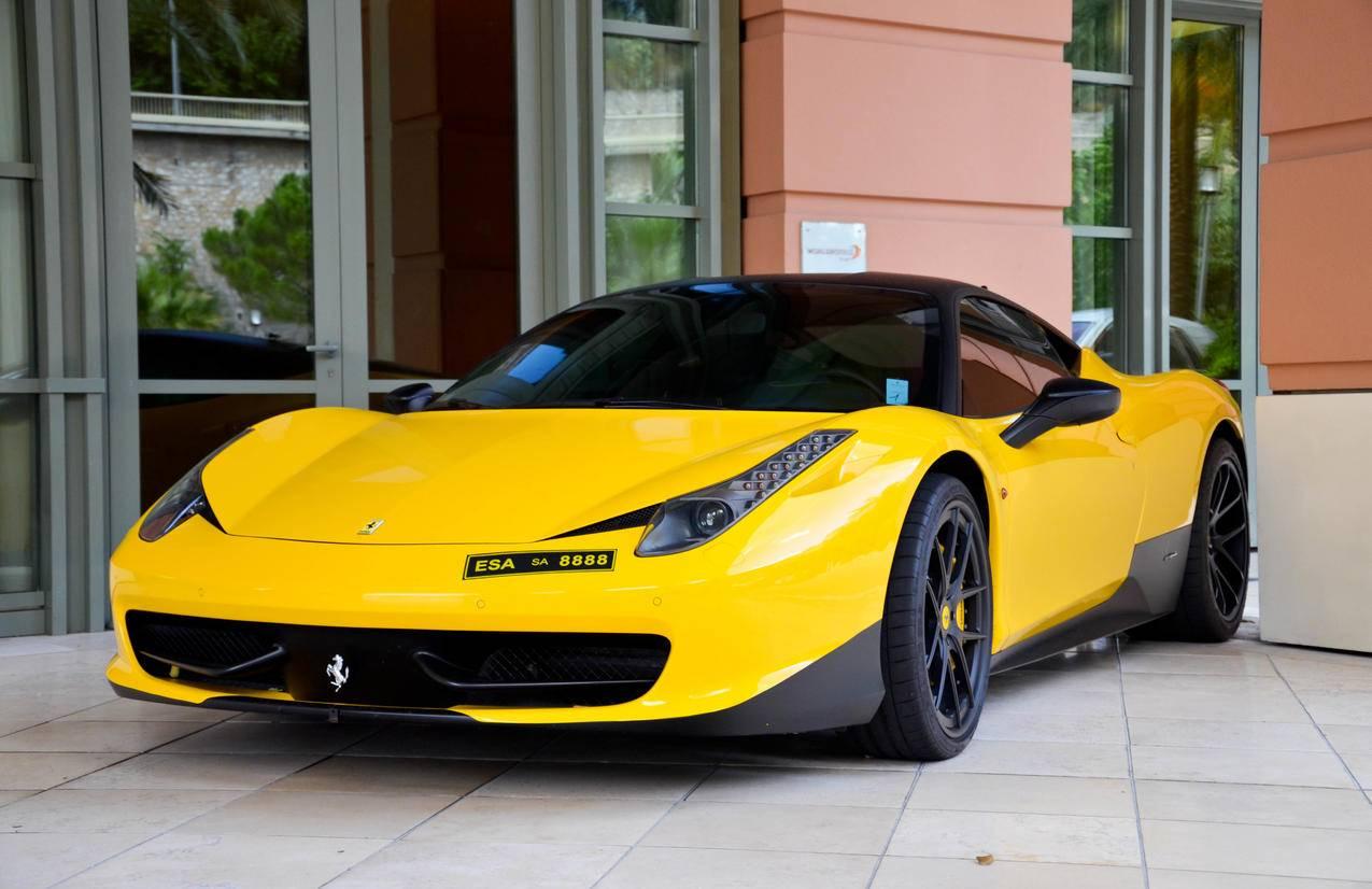 法拉利458,黄色跑车4K壁纸