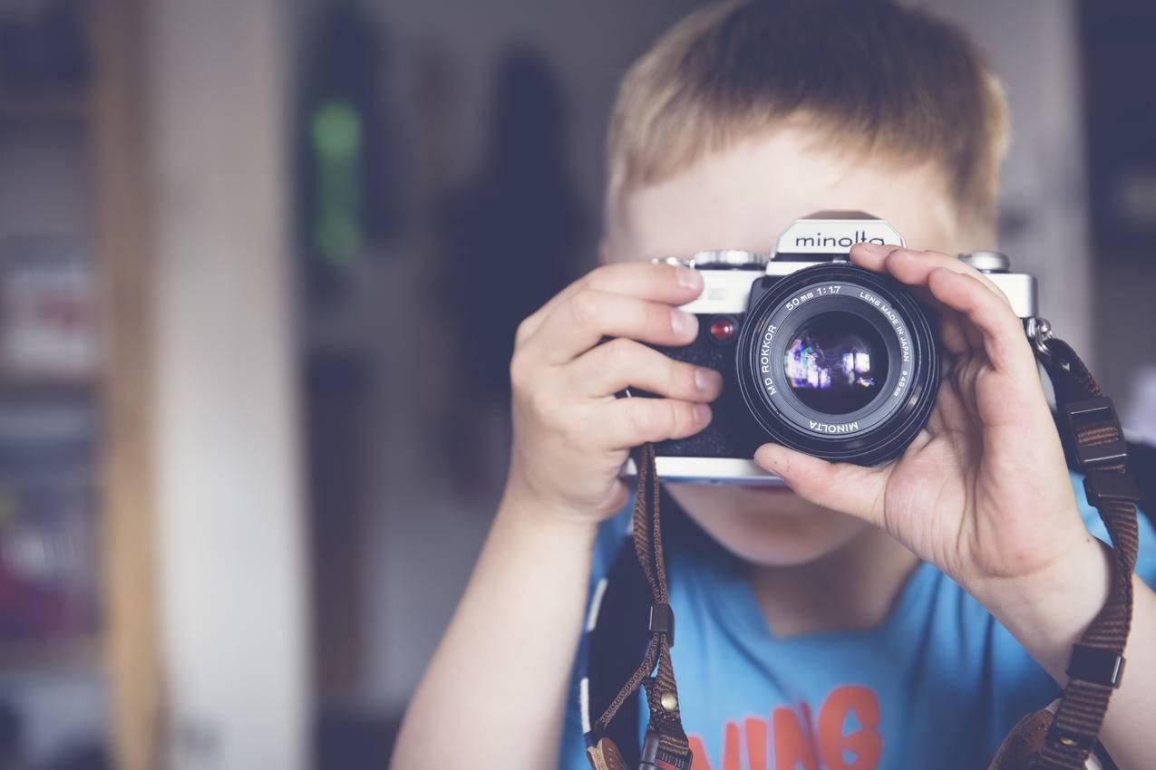 小男孩,相机,儿童,镜头,4k图片