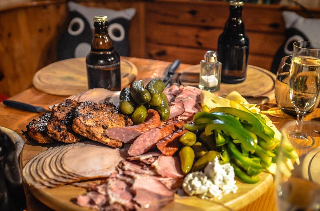 美味,香肠,小吃,奶酪,啤酒,火腿,4K美食壁纸